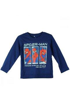 Bluza maneca lunga, bumbac, cu imprimeu, Spider Man, bluemarin