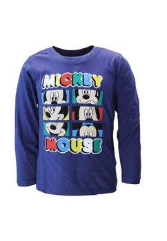 Bluza maneca lunga, Mickey Mouse, bleumarin