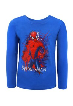 Bluza maneca lunga, Spider Man, albastra