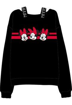 Bluza Minnie Mouse, neagra cu dungi rosii