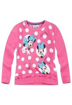 Bluza Minnie Mouse, roz cu buline albe
