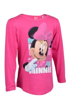 Bluza, Minnie Mouse, roz cu fundita