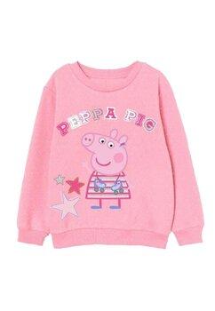 Bluza,Peppa Pig, roz cu buline mici albe