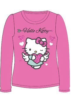Bluza roz, Hello Kitty, cu inimioare