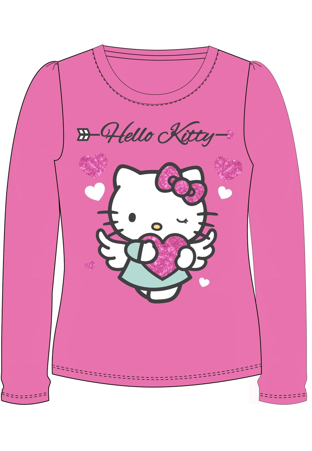 Bluza roz, Hello Kitty, cu inimioare imagine