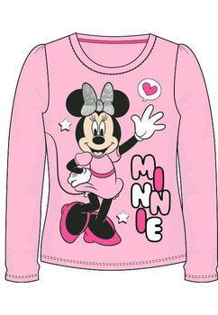 Bluza, roz, Minnie cu fundita argintie