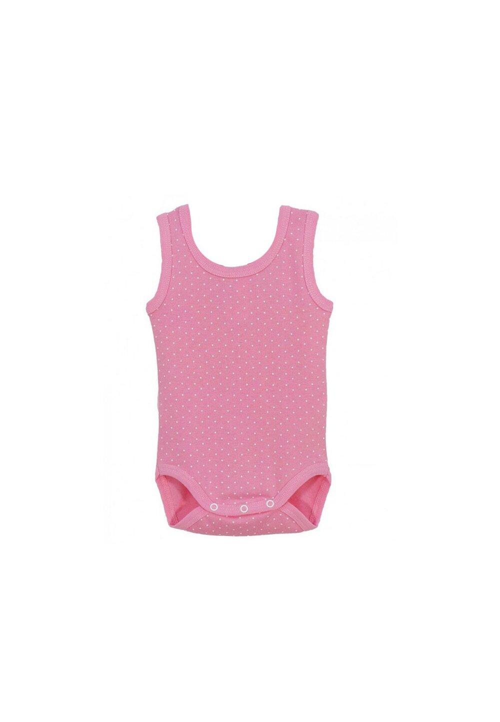 Body maieu, roz cu buline albe imagine