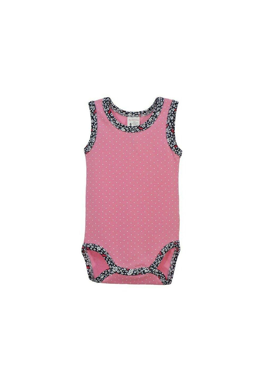 Body maieu, roz cu buline marunte albe imagine