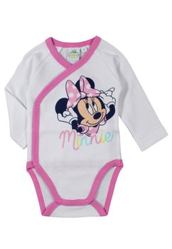 Body maneca lunga, alb, Minnie Mouse