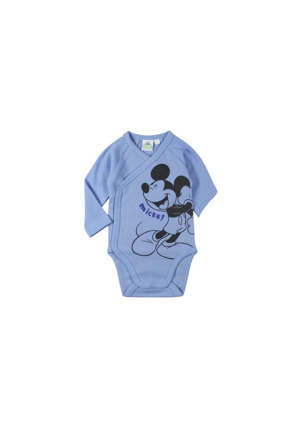 Body maneca lunga, albastru, Mickey Mouse