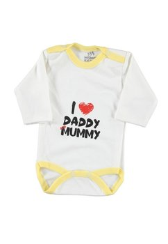 Body maneca lunga, I love daddy and mummy