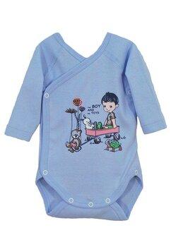 Body maneca lunga, The boy and his toys, albastru