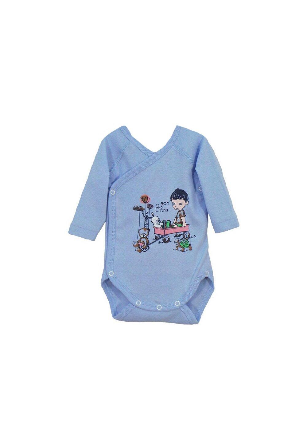Body maneca lunga, The boy and his toys, albastru imagine