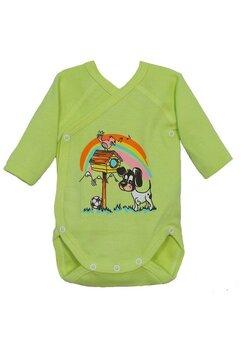 Body maneca lunga, The dog, verde