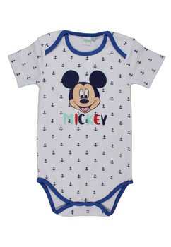 Body maneca scurta, Mickey Mouse, alb cu ancore