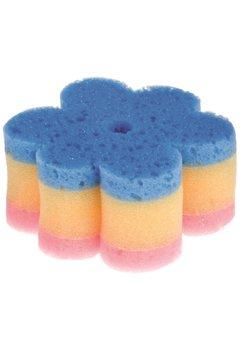 Burete de baie floare, cu ventuza, albastru cu roz