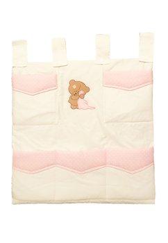 Buzunar patut, brodat, Little Bear, pink