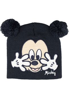 Caciula bebe, gri, Mickey Mouse