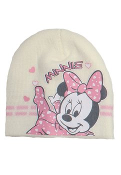 Caciula bebe, ivory, Minnie Mouse