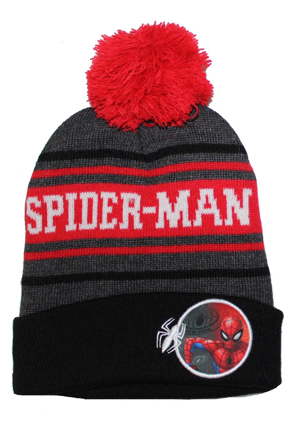 Caciula cu ciucur, Spider-Man, neagra cu rosu imagine
