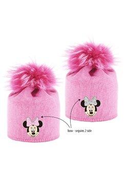 Caciula cu paiete reversibile, Minnie Mouse, roz