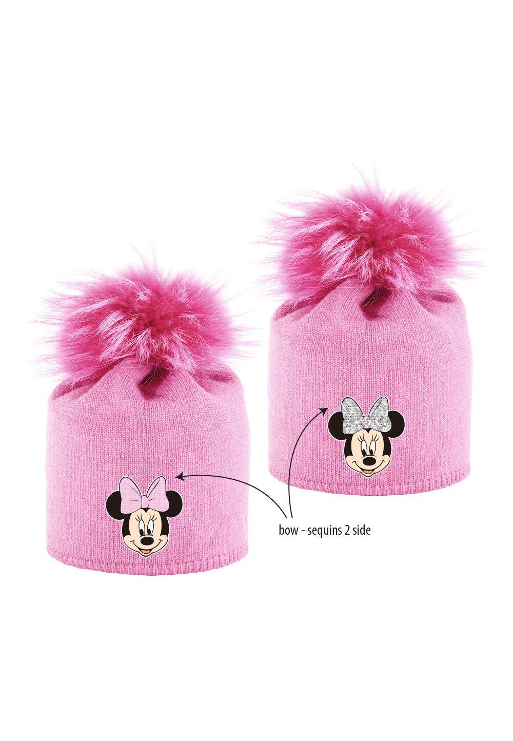 Caciula cu paiete reversibile, Minnie Mouse, roz imagine