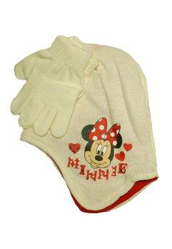 Caciula si manusi, Minnie Mouse, ivory