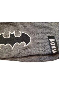 Caciula tip fes, tricotata, acril, Batman, gri