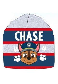 Caciula tip fes, tricotata, Chase, gri cu dungi