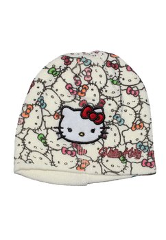 Caciula tricotata Hello Kitty crem