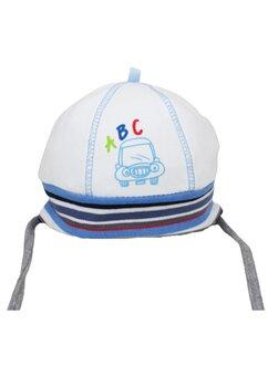 Caciulita bebe, ABC, alba cu dungi colorate