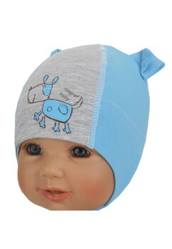Caciulita bebe, magrof baby, albastra