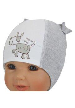 Caciulita bebe, magrof baby, gri