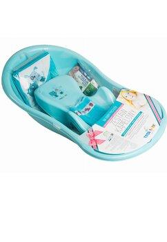 Cadita bebe + accesorii, albastra, 102 cm