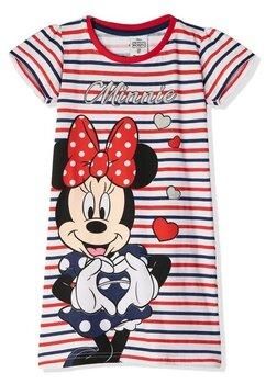Camasa de noapte, Minnie, cu dungi rosii si albe