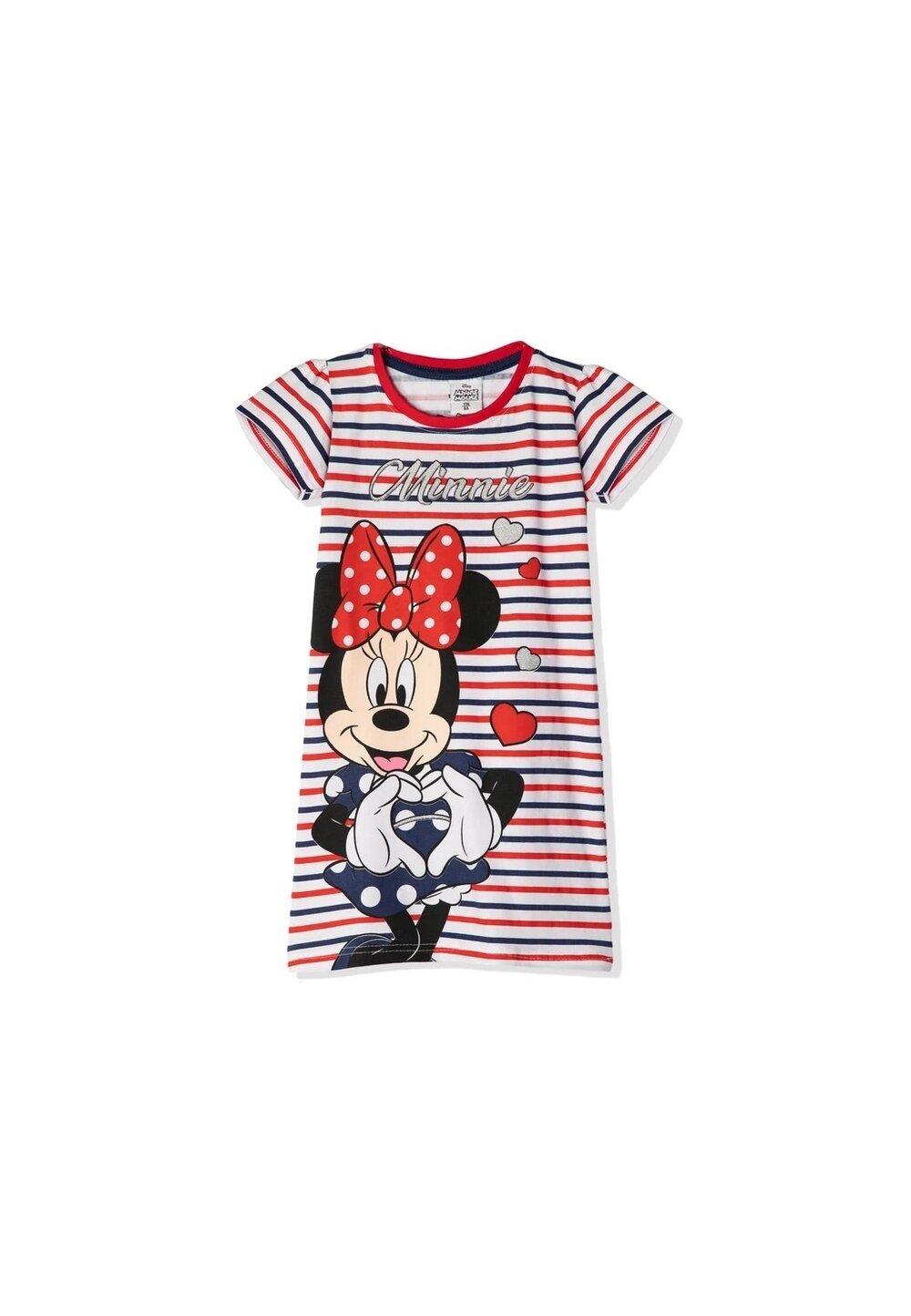 Camasa de noapte, Minnie, cu dungi rosii si albe imagine