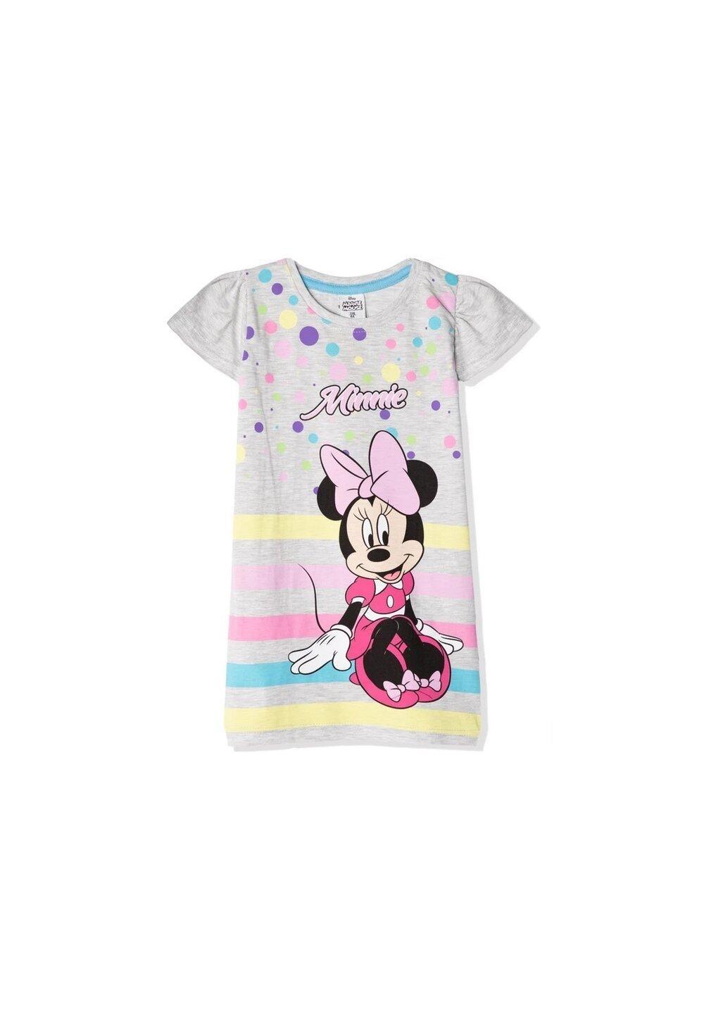 Camasa de noapte, Minnie, cu dungi si buline colorate imagine