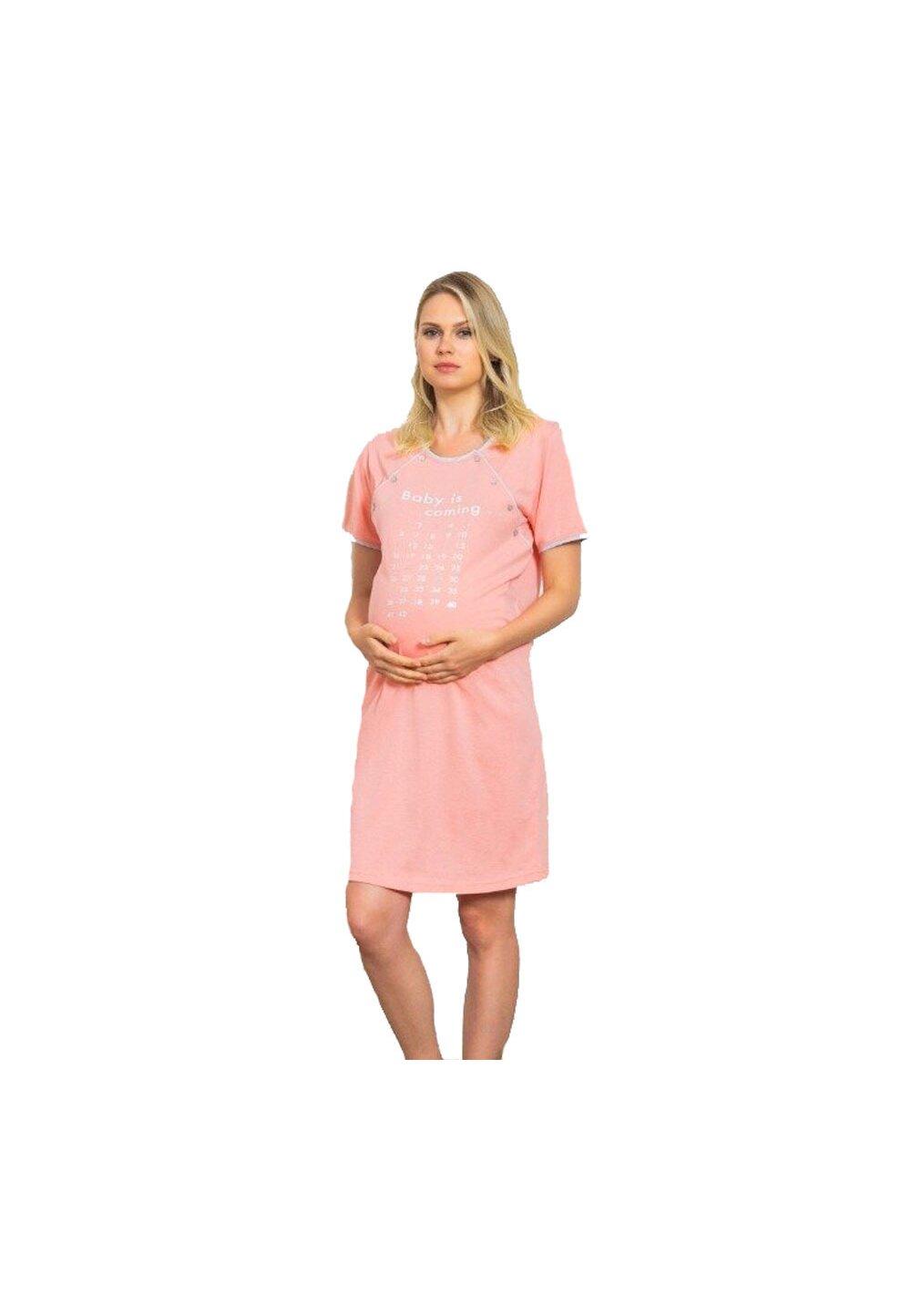 Camasa pentru alaptat, Baby is coming, roz imagine