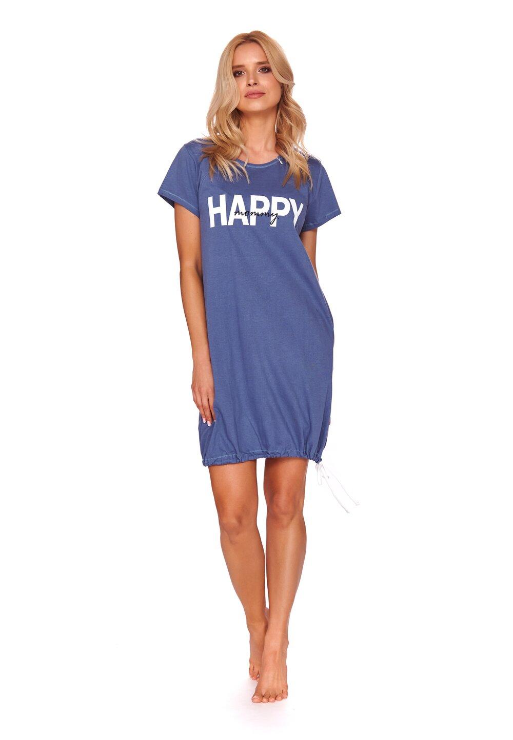 Camasa pentru alaptat, Happy mommy, albastra imagine