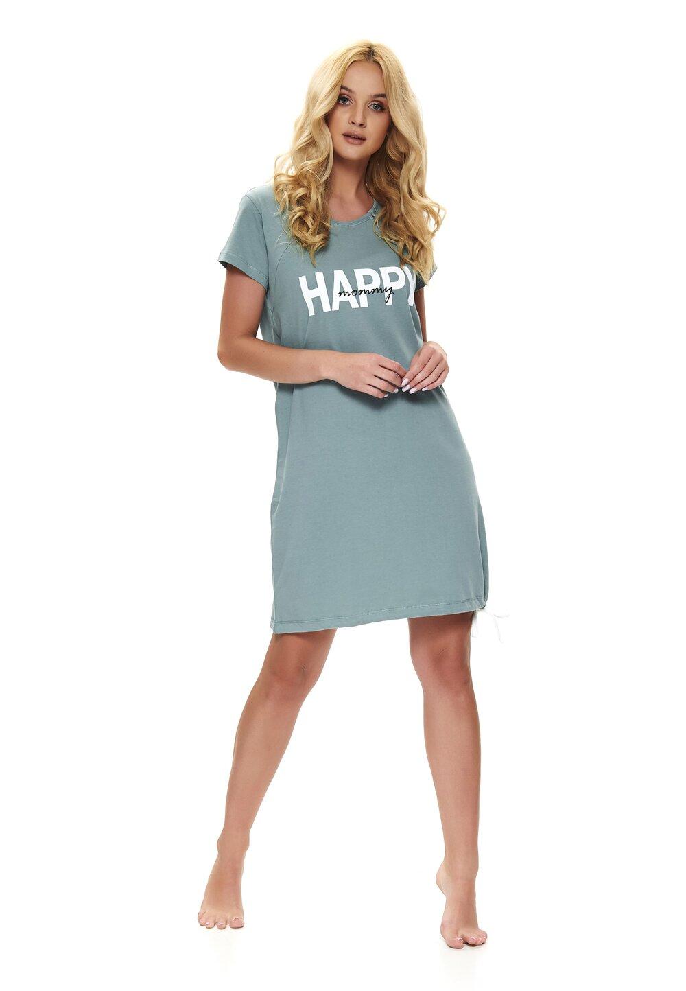 Camasa pentru alaptat, Happy mommy, verde imagine