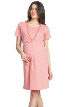 Camasa pentru alaptat, Lill, roz cu buline si dantela
