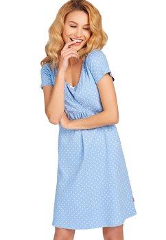 Camasa pentru alaptat, Milly, albastra cu buline