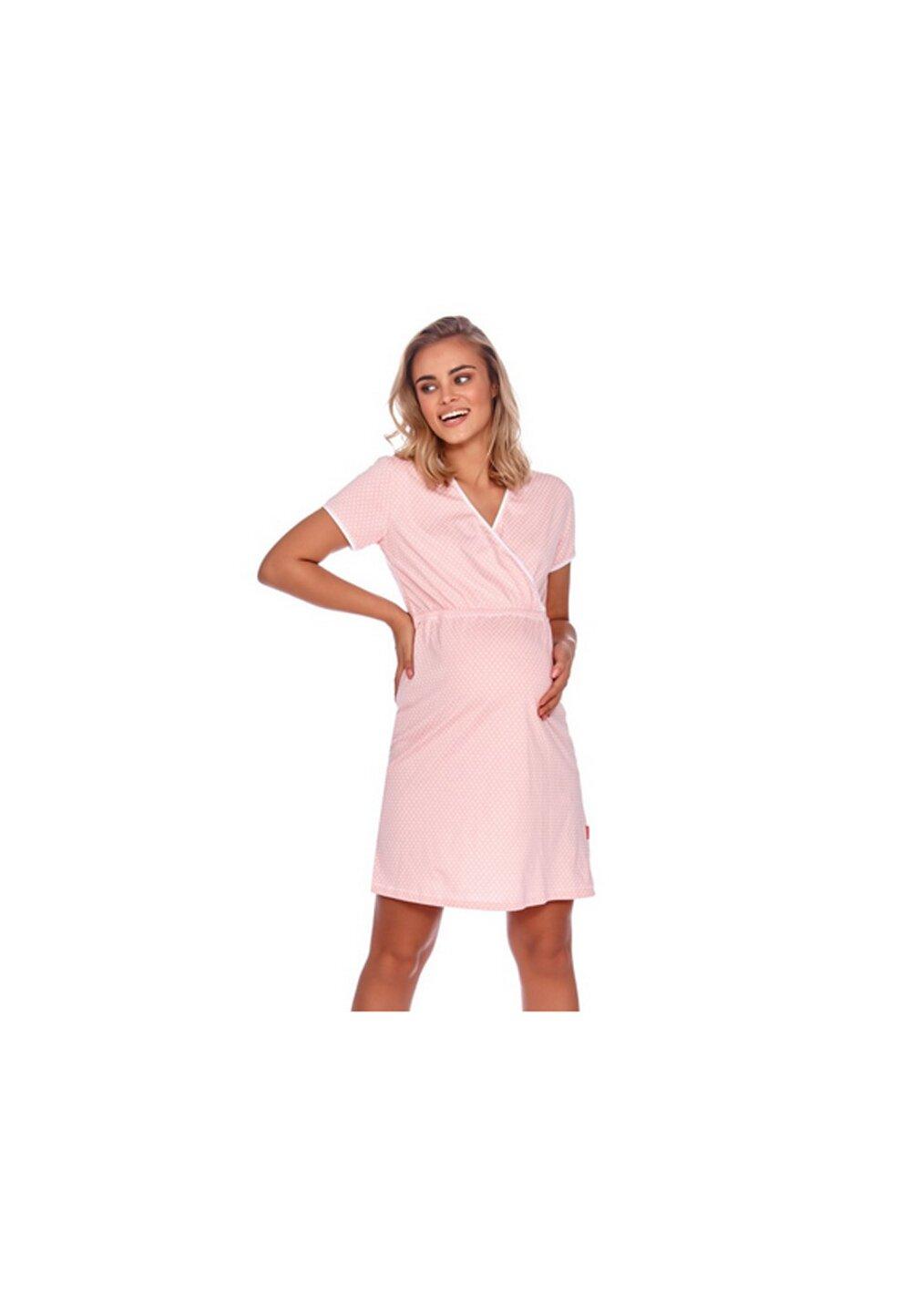 Camasa pentru alaptat, roz cu stelute albe imagine