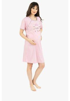 Camasa pentru alaptat, Sweet Dream, roz cu buline albe