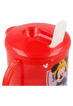 Cana cu cioc, Mickey Mouse, rosie, 230ml