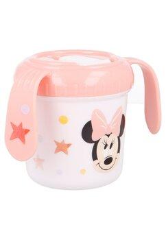 Cana cu cioc, Minnie Mouse cu stelute, corai, 250 ml, +10 luni