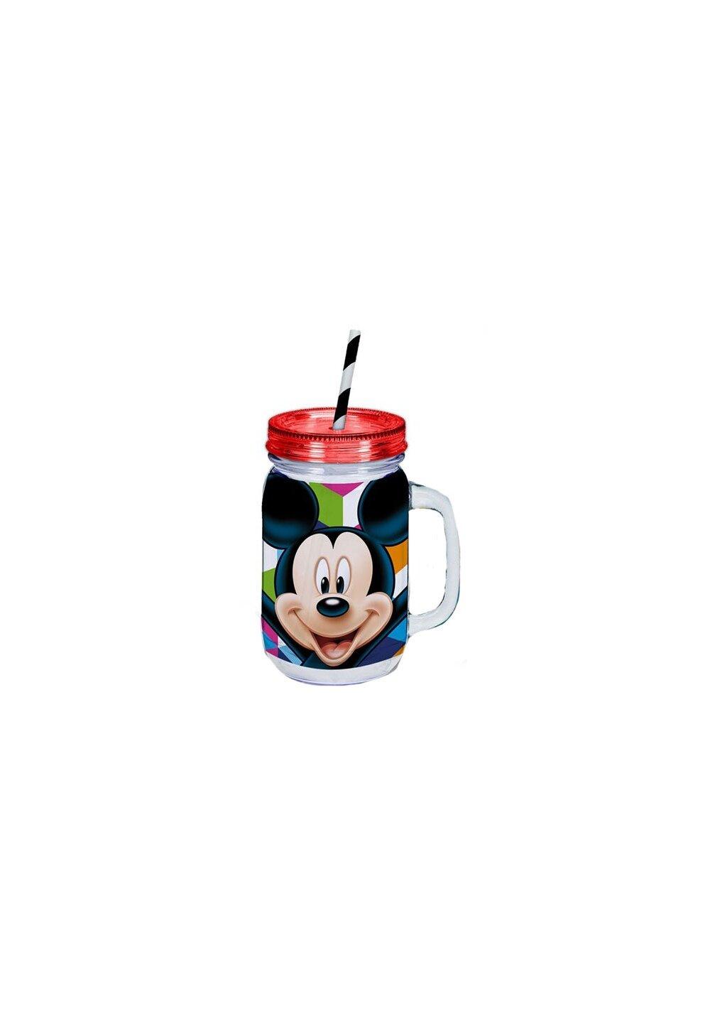 Cana cu pai, Mickey Mouse, rosu cu dungi imagine