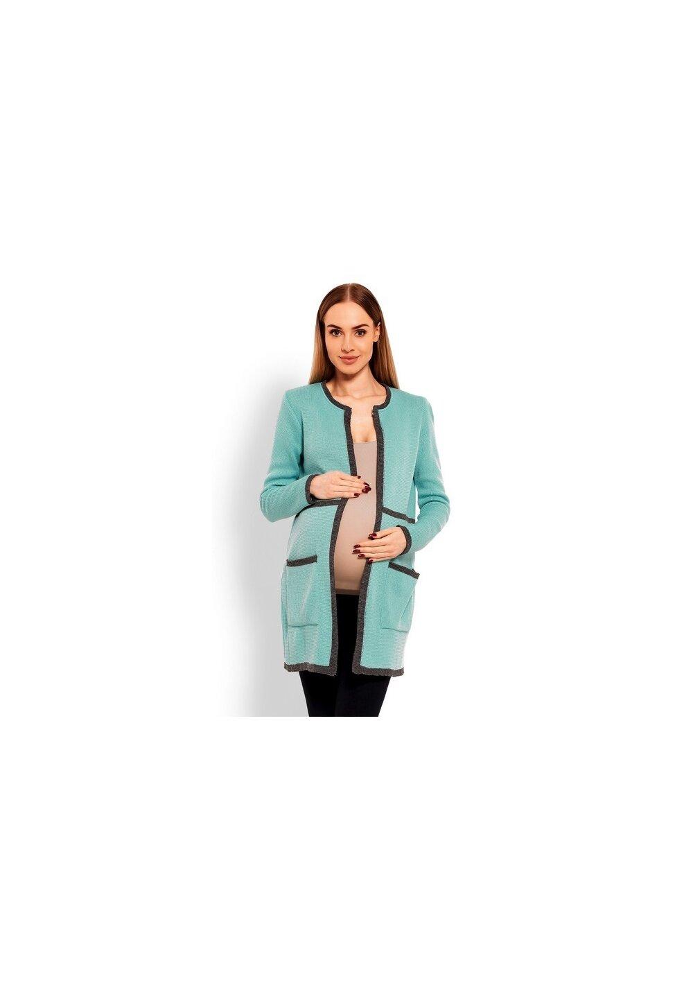 Cardigan tricotat, turcoaz imagine