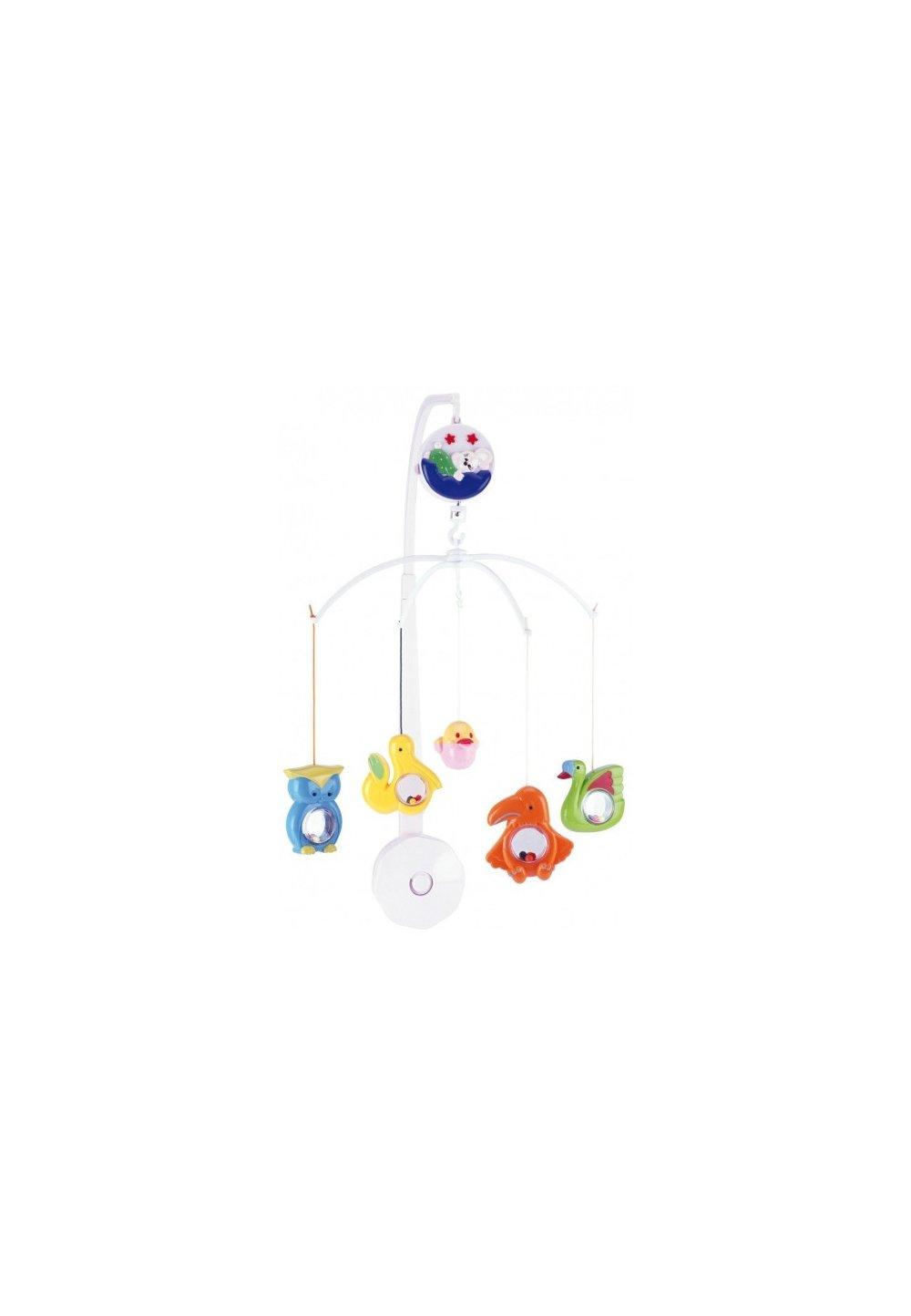 Carusel muzical, plastic, animale colorate imagine