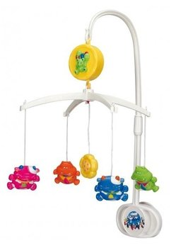 Carusel muzical, plastic, hipopotami colorati